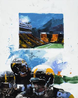 Hawkeye Kinnick Print by Stan Fellows