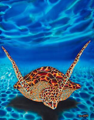Sea Turtles Painting - Hawksbill Sea  Turtle II by Daniel Jean-Baptiste