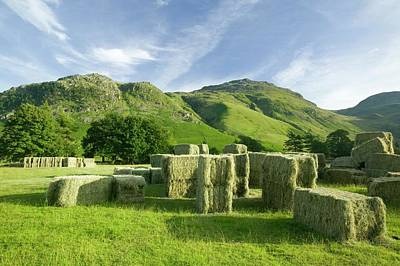 Hay Bales Print by Ashley Cooper