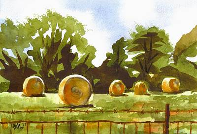Bales Painting - Hay Bales At Noontime  by Kip DeVore