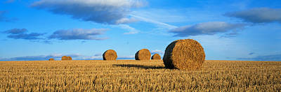 Hay Bales, Scotland, United Kingdom Print by Panoramic Images