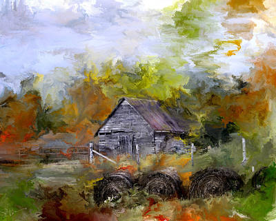 Old Barn Drawing Photograph - Hay For My Horses by Evie Carrier