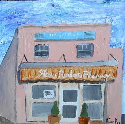 Barton Painting - Hayes Barton Pharmacy by Kimberly Balentine
