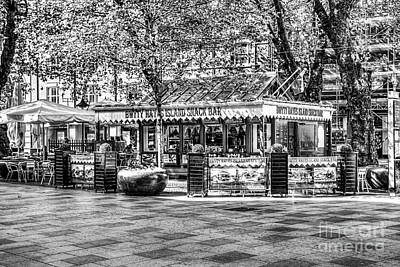 Snack Bar Photograph - Hayes Island Snack Bar Cardiff Mono by Steve Purnell