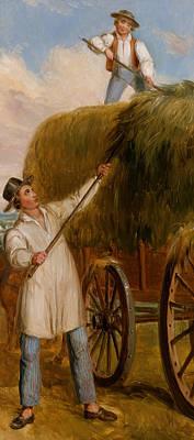 Cartwheel Painting - Haying Scene by Asher Brown Durand