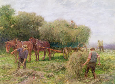 Filly Painting - Haymaking by Arthur Hopkins
