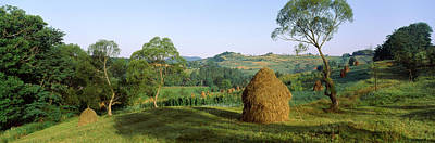 Romania Photograph - Haystack At The Hillside, Transylvania by Panoramic Images