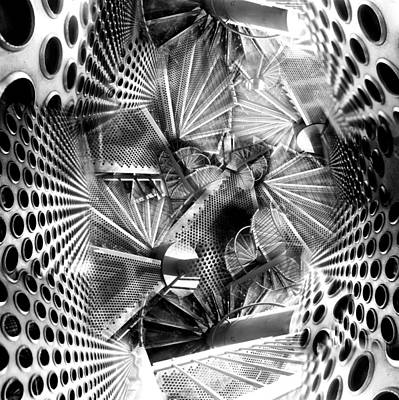 Hazard Stairs Print by Florin Birjoveanu