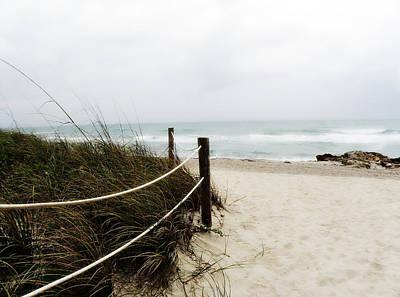 Hazy Beach Day Print by Julie Palencia