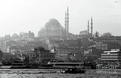 Galata Photograph - Hazy Day In Istanbul by John Rizzuto
