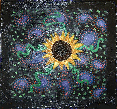 Hazy Paisley  Print by Yvonne  Kroupa