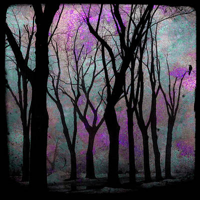 Hazy Purple Print by Gothicolors Donna Snyder