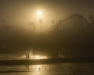Rollercoaster Photograph - Hazy Sundown by Bruce Frye