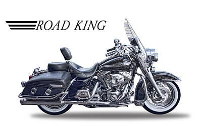 Motorcycle Digital Art - H D Road King by Daniel Hagerman
