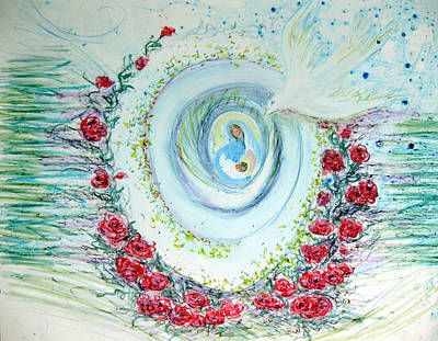 He Comes Softly Print by Sarah Hornsby