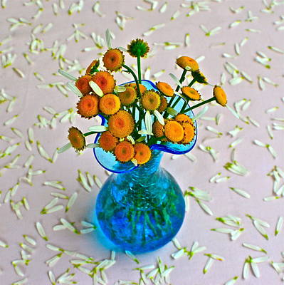He Loves Me Bouquet Print by Frozen in Time Fine Art Photography