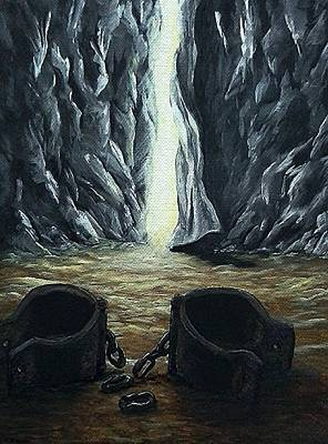 Imprisonment Painting - He Made A Way by Pamela Blayney