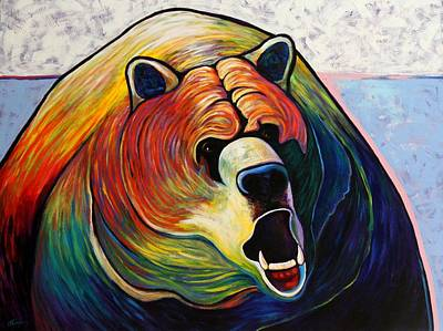 Growling Painting - He Who Greets With Fire by Joe  Triano