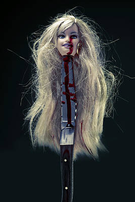 Doll Photograph - Head And Knife by Joana Kruse