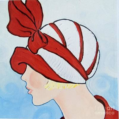Alluring Painting - Head In The Clouds by Barbara Chase