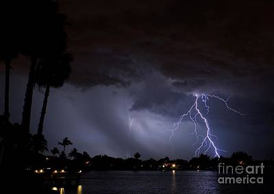 Lightning Photograph - Head In The Clouds by Quinn Sedam
