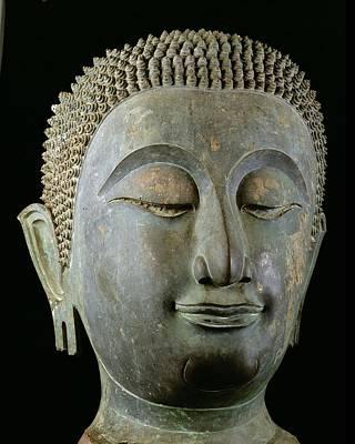 Elongated Sculpture - Head Of A Giant Buddha  by Thai School