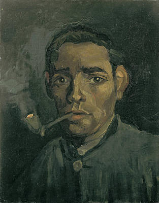 Character Studies Painting - Head Of A Man by Vincent Van Gogh