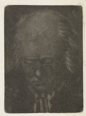Bo Drawing - Head Of An Old Man With Glasses, Anthonie Van Den Bos by Artokoloro