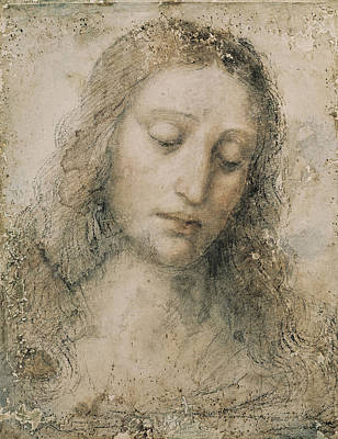 Christ The Redeemer Photograph - Head Of Christ The Redeemer. 16th C by Everett