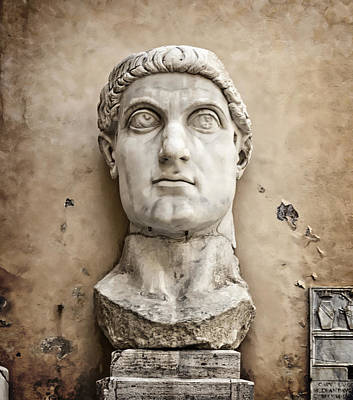 Capitoline Photograph - Head Of Constantine by Joan Carroll
