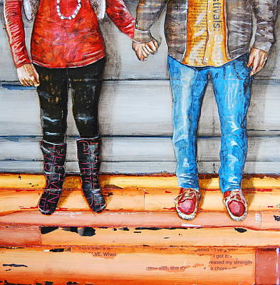 Nostalgia Mixed Media - Head Over Heels by Danny Phillips