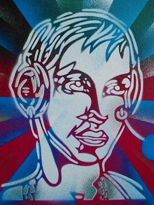 Abstract Drawing - Head Phones by Leon Keay