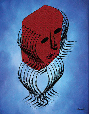 Headdress Mask Print by Charles Smith