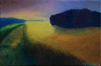 Wet On Wet Painting - Heading Home by Peter Kallai