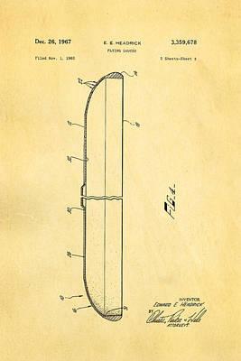 O-2 Photograph - Headrick Frisbee 2 Patent Art 1967 by Ian Monk