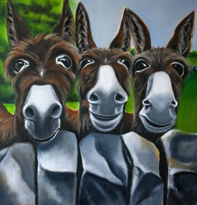 Fauna Painting - 3 Amigos by Linda McKernan