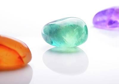 Semi Precious Gemstones Photograph - Healing Gemstones by Cordelia Molloy