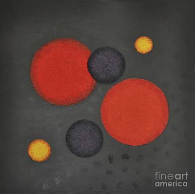 Mini Arora Abstracts Mixed Media - Healing Hands by Mini Arora