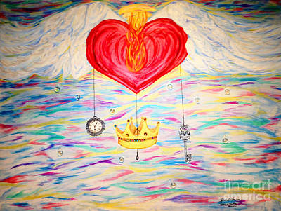 Plumb Painting - Healing In His Wings  Malachi 4 by Michelle Bentham