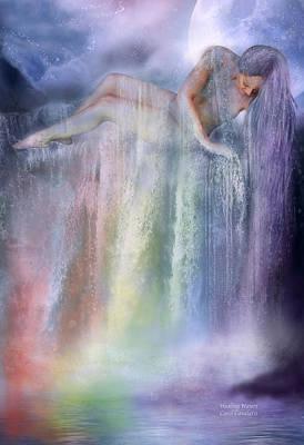 Healing Waters Print by Carol Cavalaris