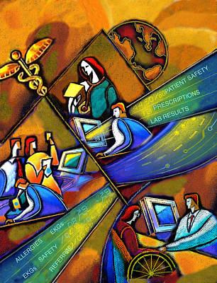 Health Care Technology Print by Leon Zernitsky