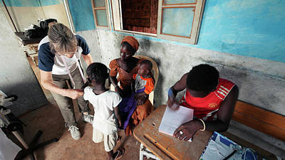 Senegal Photograph - Health Clinic by Thierry Berrod, Mona Lisa Production