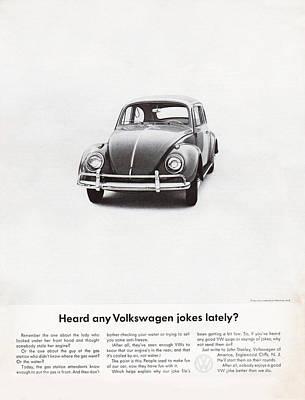 Vintage Car Advert Digital Art - Heard Any Good Volkswagen Jokes Lately by Georgia Fowler