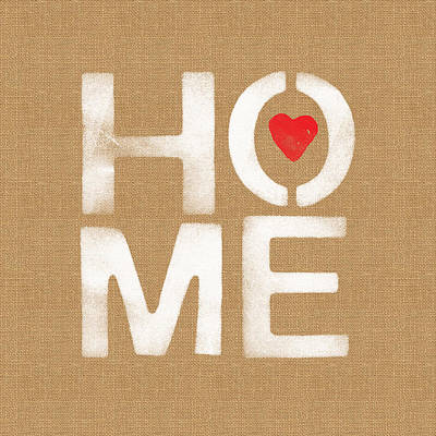 Heart And Home Print by Linda Woods