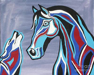 Wolves Painting - Heart And Soul - Abstract Horse Art By Valentina Miletic by Valentina Miletic