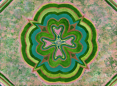 Flowers Painting - Heart Flower by Julia Stubbe