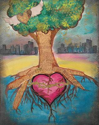 Etc Mixed Media - Heart For The City by Debbie Hornsby