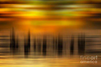 Abstract Beach Landscape Photograph - Heart Of Gold - A Tranquil Moments Landscape by Dan Carmichael