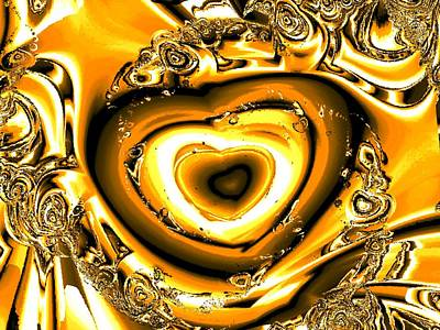 Cool Jewelry Digital Art - Heart Of Gold by Anastasiya Malakhova
