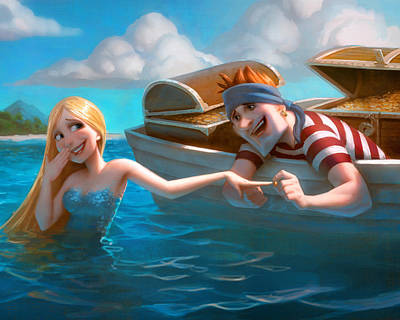 Mermaid Digital Art - Heart Of Hearts by Adam Ford